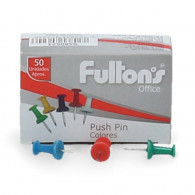 CHINCHE FULTONS PUNCH PIN COLORES SURTIDOS 50 UNIDADES